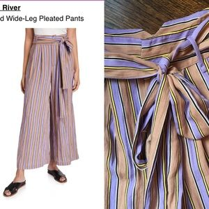 Anthropologie Moon River Wide Leg Striped Pant   S